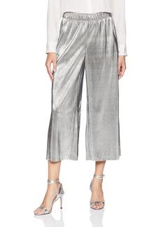 kensie Women's Pleated Shine Midi Pant  L