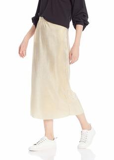 kensie Women's Pleated Shine Midi Skirt  XS