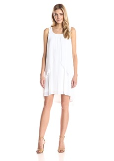 Kensie Women's Pleated Tricot Dress