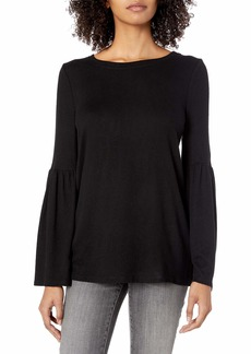 kensie Women's Plush Touch Bell Sleeve Sweater  S