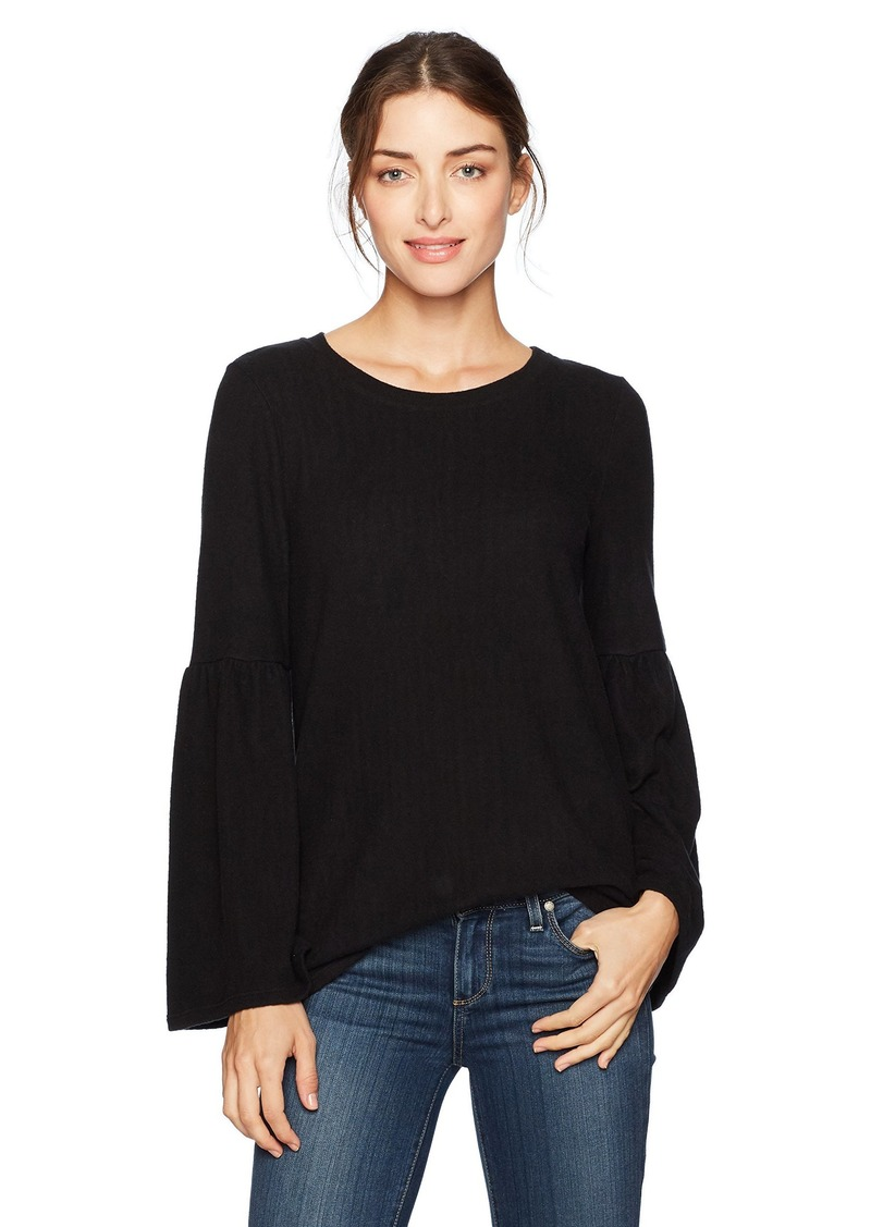 kensie Women's Plush Touch Bell Sleeve Sweater  XS