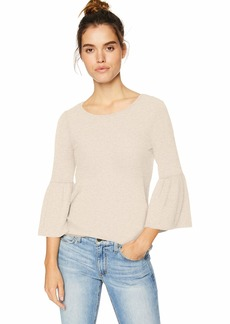 kensie Women's Plush Touch Bell Sleeve Top  L