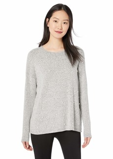 kensie Women's Plush Touch Pearl Long Sleeve Top  XL