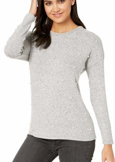 kensie Women's Plush Touch Pearl Long Sleeve Top  XL