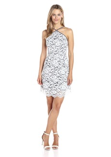 Kensie Women's Poetic Lace Dress  L