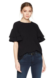 kensie Women's Polished Crepe Top  S