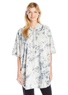kensie Women's Poncho Silky Fleece