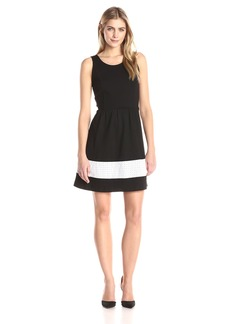 Kensie Women's Ponte Fit and Flare Dress