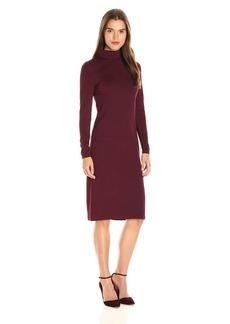 Kensie Women's Ponte Long Sleeve Midi Dress  L