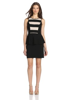 Kensie Women's Ponte Peplum Dress