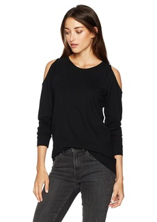 kensie Women's Ponte Sweatshirt with Cold Shoulder  XL