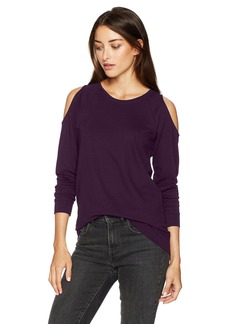 kensie Women's Ponte Sweatshirt with Cold Shoulder  XL
