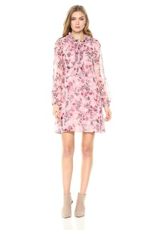 kensie Women's Prairie Floral Dress  M