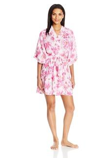 kensie Women's Printed Kimono Robe  L/XL