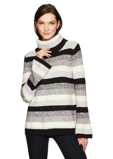 kensie Women's Punk Yarn Stripe Sweater  M