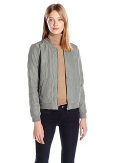 Kensie Women's Quilted Polyester Bomber Jacket  L