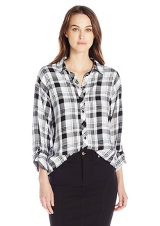 Kensie Women's Rayon Plaid Top