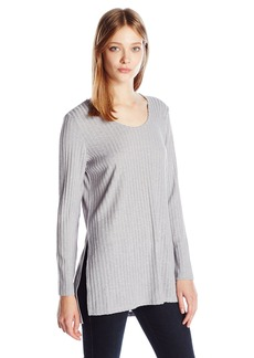 Kensie Women's Rayon Rib Long Sleeve Top  M