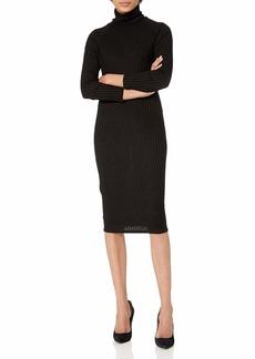 kensie Women's Rayon Rib Midi Dress  M
