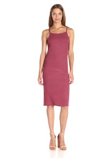 Kensie Women's Rayon Rib Midi Tank Dress  L