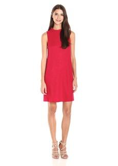 Kensie Women's Rayon Rib Sleeveless Shift Dress  M
