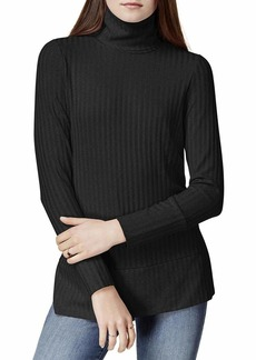 kensie Women's Rayon Rib Top with Cowl Neck  M