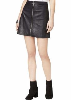 kensie Women's Reptile Suede Skirt  L