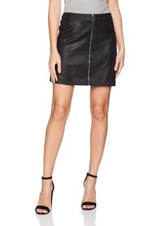 kensie Women's Reptile Suede Skirt  S