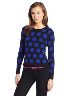 kensie Women's Reversible Dot Sweater