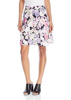 Kensie Women's Romantic Florals Skirt