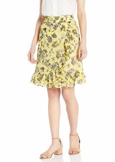 kensie Women's Romantic Rose Skirt  XL