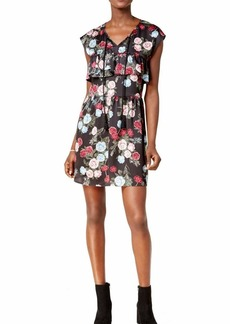 kensie Women's Rose Bouquets Floral Print Dress  S