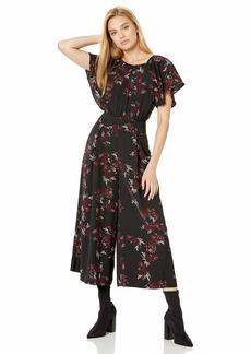 kensie Women's Rose Noir Jumpsuit  Extra Large
