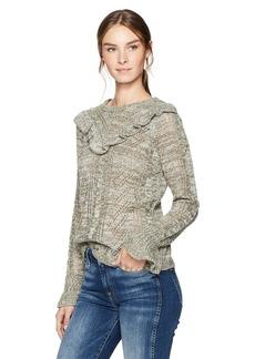 kensie Women's Ruffle Pullover Sweater  S