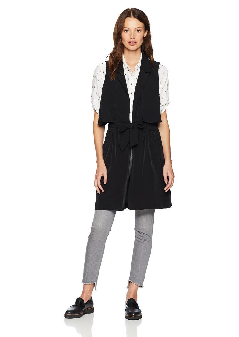 kensie Women's Sandwashed Micro Fabric Vest  S
