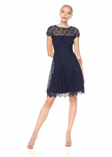 kensie Women's Scallop LACE  Dress