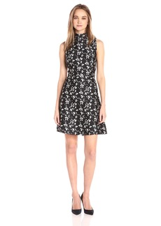 kensie Women's Scattered Floral Brocade Dress  XL