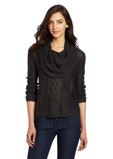 kensie Women's Scattered Sequins Sweater