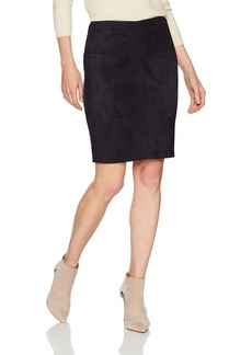 kensie Women's Scuba Suede Skirt  XL