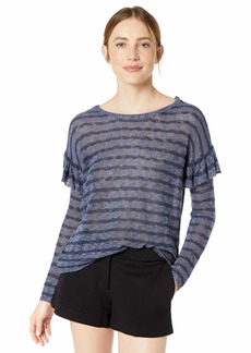 kensie Women's Sheer Boucle Sweater