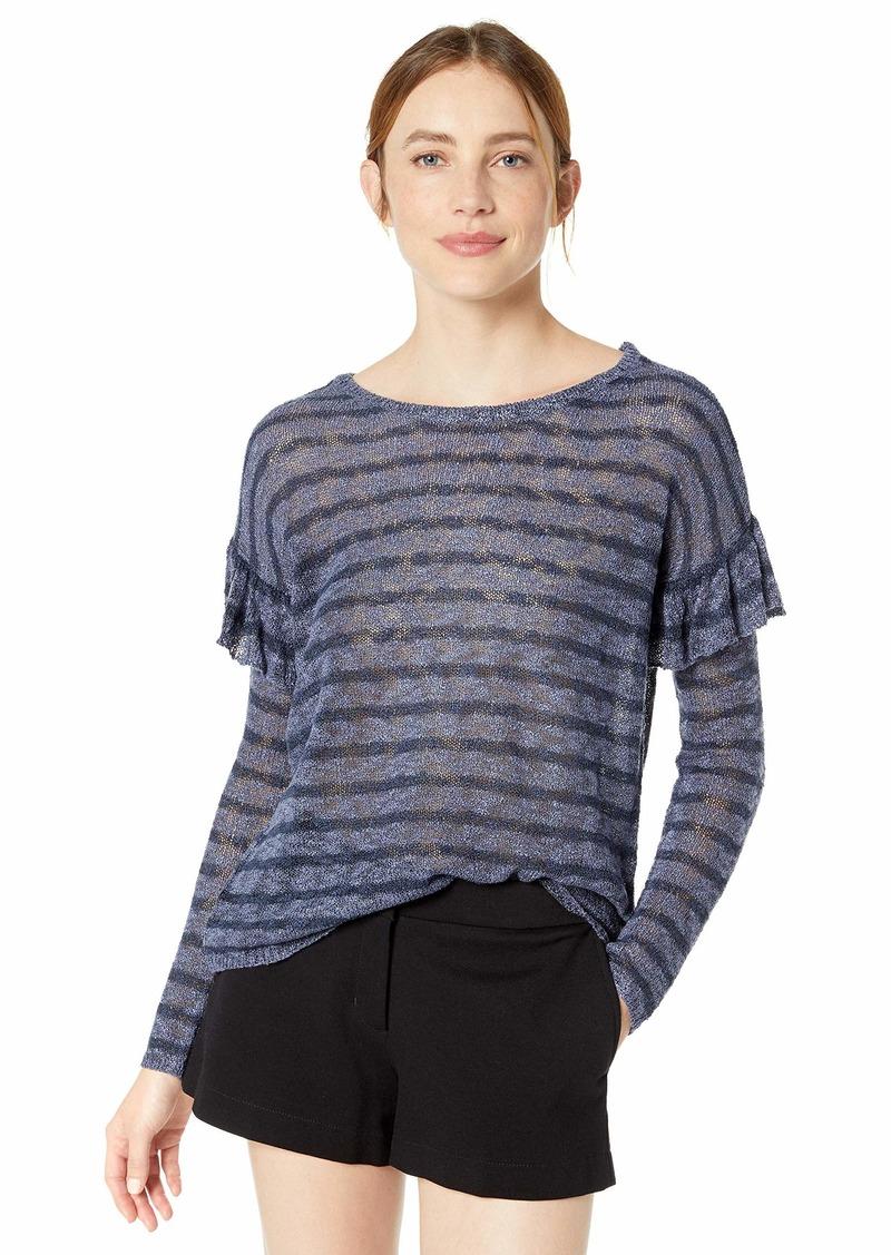 kensie Women's Sheer Boucle Sweater