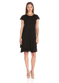 kensie Women's Sheer Viscose Layered Dress  XL