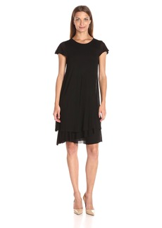 kensie Women's Sheer Viscose Layered Dress  XS