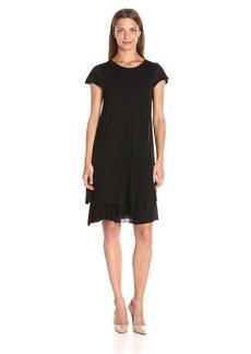 kensie Women's Sheer Viscose Layered Dress  L
