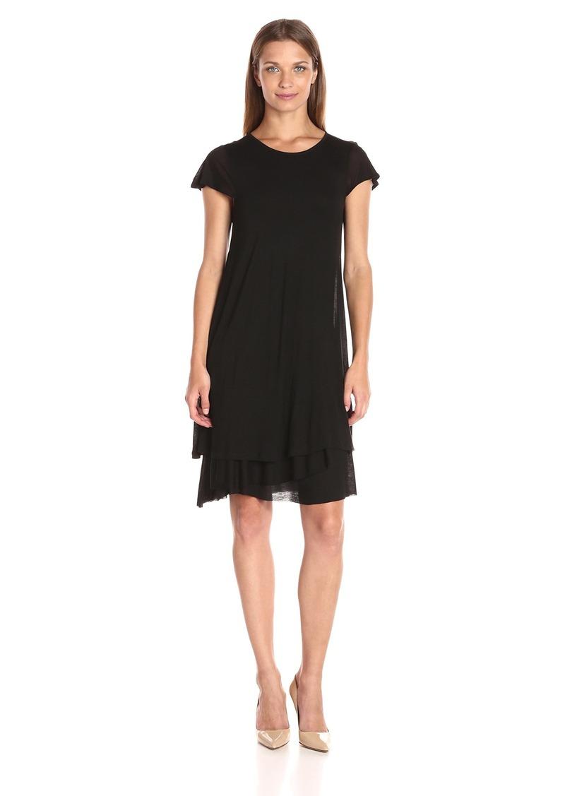 kensie Women's Sheer Viscose Layered Dress  S