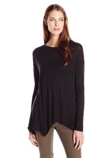 Kensie Women's Sheer Viscose Long Sleeve Top