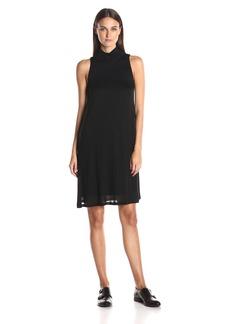 kensie Women's Sheer Viscose Tee Dress