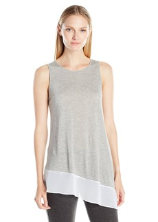 Kensie Women's Sheer Viscose Tee Sleeveless Top