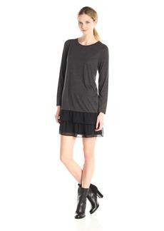 Kensie Women's Sheer Viscose Tees Dress