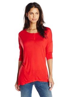 kensie Women's Sheer Viscose Tees Short Sleeve Top